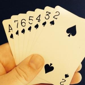 Kartenspiel im Einsatz